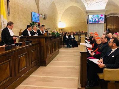 Il ministro Bonafede all'inaugurazione dell'Anno giudiziario del Vaticano 2019