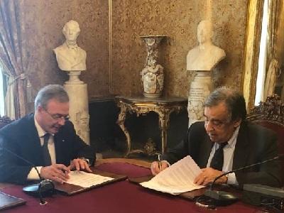 Firma del protocollo tra PRAP Sicilia e ANCI SICILIA Del Gesu Orlando