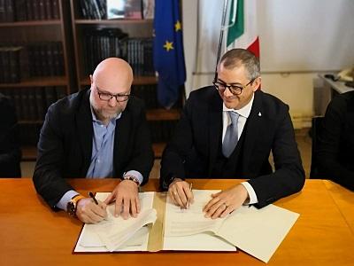 Filippo Nogarin, sindaco di Livorno, e Francesco Basentini, capo del Dap
