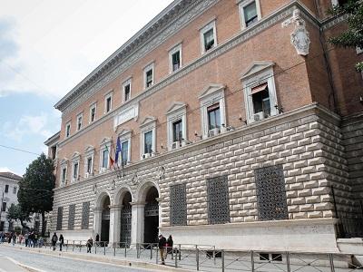 Il palazzo del Ministero di Giustizia di via Arenula