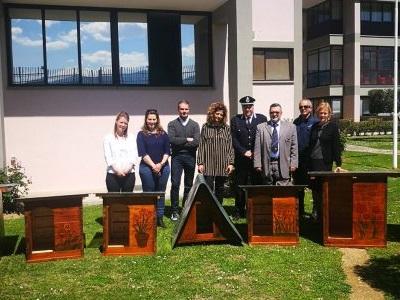 Carcere Spoleto, le cucce donate al canile realizzate dai detenuti (foto del Comune di Spoleto)
