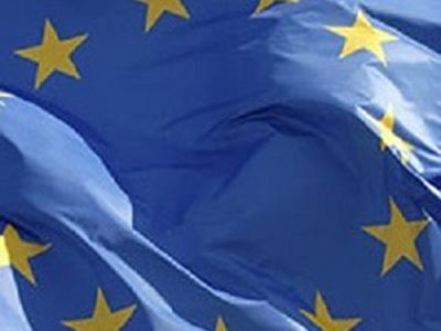 particolare della bandiera dell'Unione europea