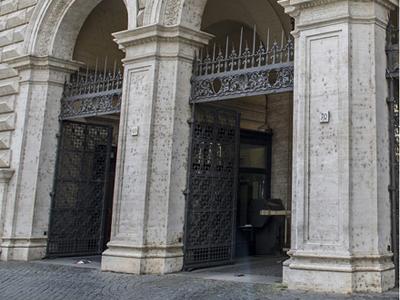 sede del Ministero della giustizia particolare colonne all'ingresso
