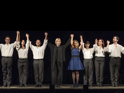 """I protagonisti dello spettacolo teatrale """"Il coraggio di parlare"""" in scena nella sede Onu di Vienna"""