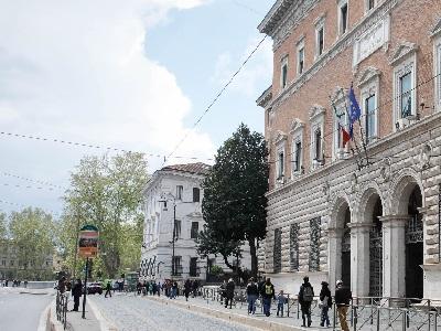 Via Arenula entrata Ministero della Giustizia