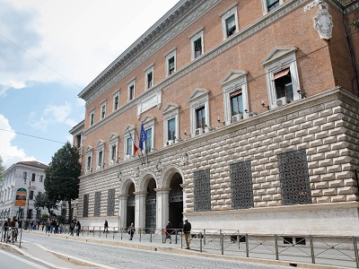 Facciata palazzo del Ministero della Giustizia