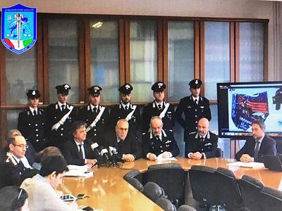 Conferenza stampa su arresto degli anarco-insurrezionalisti a Milano
