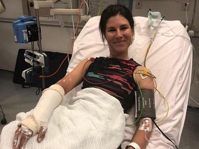 Elena Cecchini ricoverata dopo l'infortunio durante l'Energy Tour in Germania