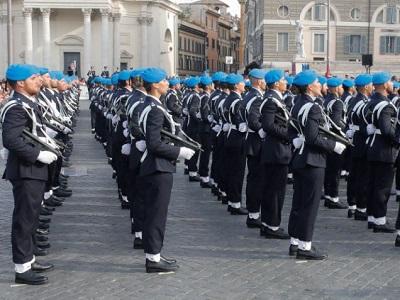 Allievi agenti di Polizia Penitenziaria durante la cerimonia dell'8 luglio
