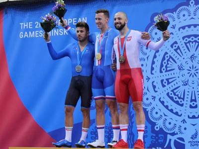 Francesco Lamon sul podio di Minsk