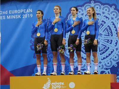 Il quartetto donne sul podio