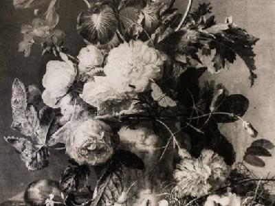"""Una parte del dipinto """"Vaso di fiori"""" trafugato dai soldati nazisti da Firenze nel 1944"""