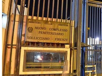 L'ingresso del carcere di Sollicciano (Firenze)