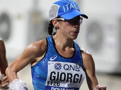 Eleonora Giorgi nella 50 chilometri mondiale (Colombo/Fidal)