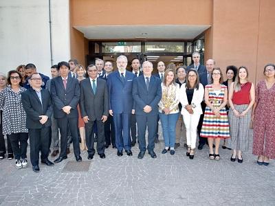 I rappresentanti dei Paesi che aderiscono al Pacto in visita a Roma