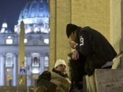senzatetto a San Pietro
