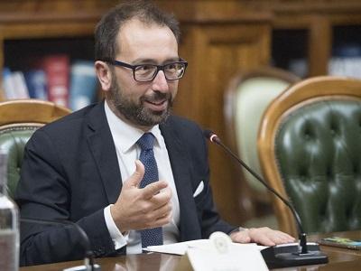 Alfonso Bonafede all'incontro con i rappresentanti sindacali della Polizia Penitenziaria Palazzo Chigi 12 novembre 2019