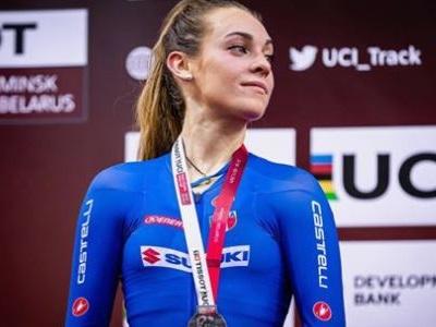 Letizia Paternoster ciclismo Fiamme Azzurre