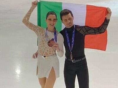 Charlène Guignard e Marco Fabbri Fiamme Azzurre pattinaggio su ghiaccio