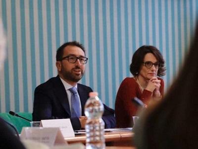 Alfonso Bonafede ed Elena Bonetti, ministra per le Pari Opportunità