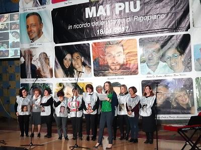 Manifestazione per il 3° anniversario della strage di Rigopiano - lettura della lettera