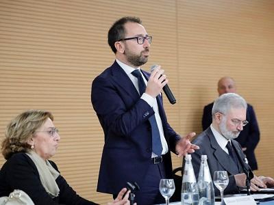 Il ministro Bonafede saluta i 323 neo funzionari del servizio sociale - Roma, 22 gennaio 2020