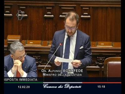 Camera dei deputati il ministro bonafede risponde al for Camera dei deputati rassegna stampa