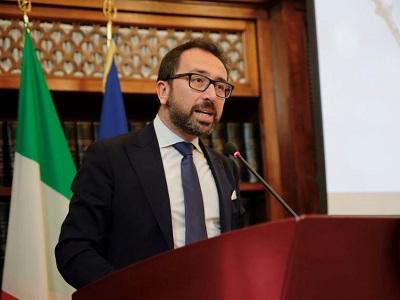 Il ministro della Giustizia Alfonso Bonafede all'evento sUn anno di Spazzacorrotti' - Foto di Doriano Ciardo