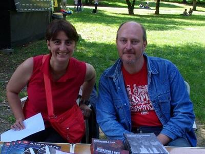 Laura Tussi e Fabrizio Cracolici, autori del libro 'Riace. Musica per l'umanità'