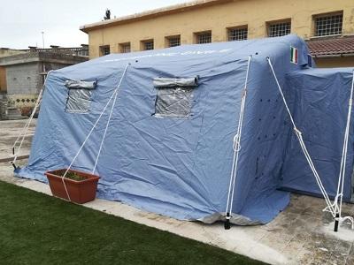 tenda-pre-triage coronavirus profilassi carcere