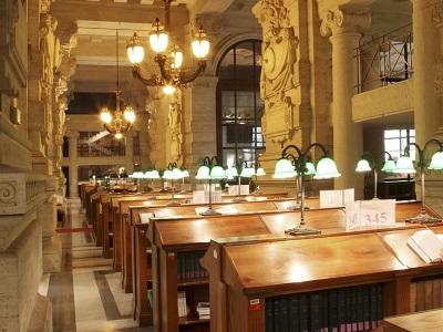 Biblioteca centrale giuridica: la sala di lettura