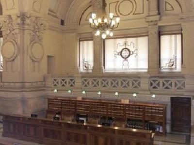 Biblioteca centrale giuridica: la sala cataloghi