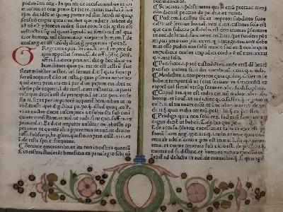 particolare del testo e delle miniature