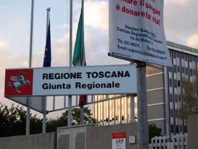 L'ingresso degli uffici della Regione Toscana