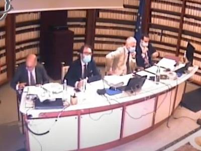 Il ministro della Giustizia Alfonso Bonafede durante la sua audizione in commissione Antimafia 21-05-2020