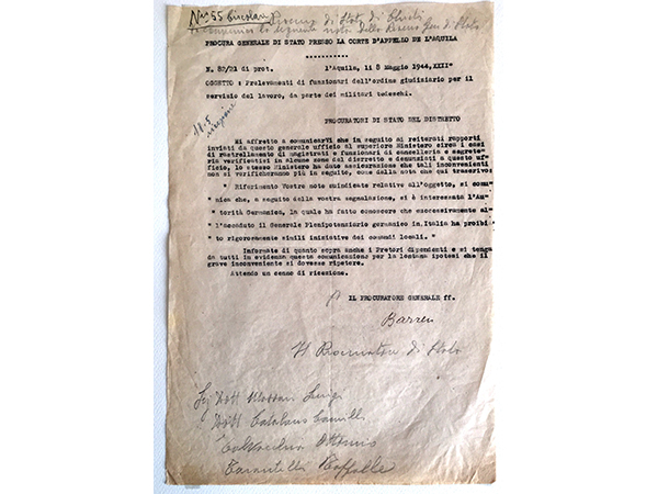 Rastrellamenti di magistrati e personale giudiziario da parte delle forze tedesche