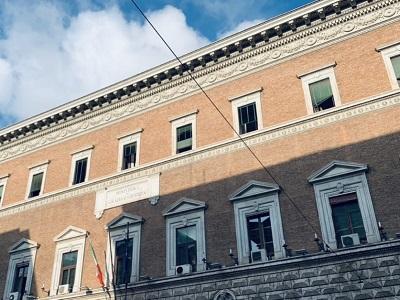 Facciata del Ministero della Giustizia di via Arenula a Roma