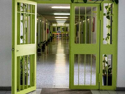 Corridoio all'interno del carcere di Bollate