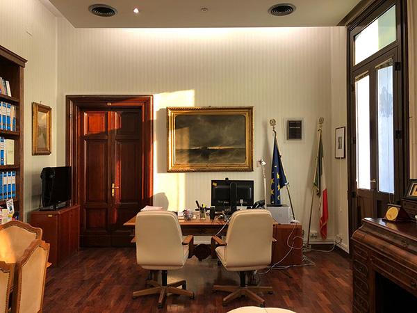La stanza del giudice Giovanni Falcone al Ministero della Giustizia nel periodo in cui fu Direttore Generale degli Affari penali