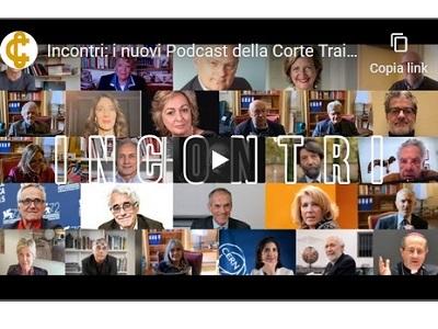 Videta con i volti dei protagonisti dei Podcast della Corte Costituzionale
