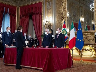 Giuramento del nuovo ministro della Giustizia Marta Cartabia - 13 febbraio 2021