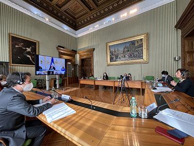 La ministra della Giustizia Marta Cartabia incontra l'omologo francese Éric Dupond-Moretti