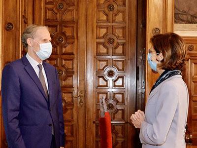 la ministra Cartabia incontra l'ambasciatore francese Masset