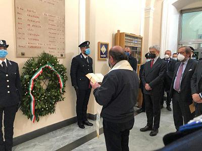 Cerimonia in ricordo di Giuseppe Salvia