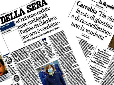 Foto Corriere della Sera e la Repubblica