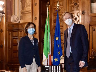 La ministra Cartabia incontra l'ambasciatore austriaco Jan  Kicker
