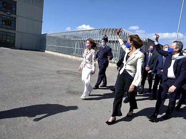 Marta Cartabia in visita al carcere di Santa Maria C.V.