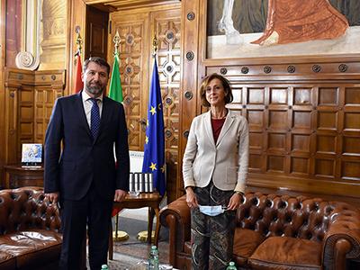 La ministra Cartabia incontra il ministro armeno
